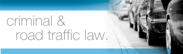 Criminal law and traffic law.